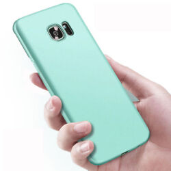 For Samsung Galaxy A6 A8 2018 S8 S7 Slim Silicone Rubber Frosted Tpu Cover Case