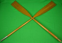 Abercrombie And Fitch Single/ Double-bladed C1940s Adk Paddle W/ Copper-tip Blades