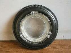 Rare Vintage Premier Tyres Advertising Ashtray Of 60and039s Made In U.s.a.