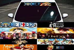 One Piece Car Front Windshield Rear Graphics Decal Vinyl Sticker Window Anime