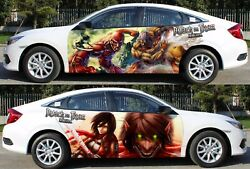 Anime Attack On Titan Car Door Body Vinyl Sticker Decal Manga Fit Any Auto