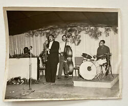 African American Jazz Band Christmas Concert Photo 1940andrsquos-50andrsquos 8x10 Vintage