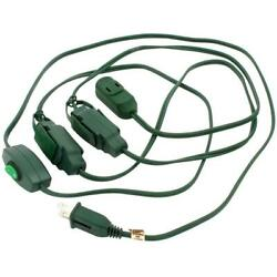 Go Green 9 Foot 9 Christmas Tree Extension Cord Outlet Safe Holiday Special