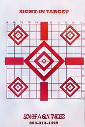 50 Pack Shooting Paper Targets Precision Sight In Target