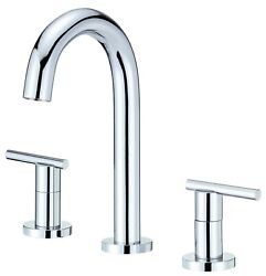 Parma Trim Line Two-handle Mini-widespread Lavatory Faucet With Metal Touch Down