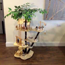 Melissa and Doug Solid Wood Treehouse Play Set w 5 Platforms