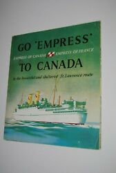 Canadian Pacific Shipping Line Go Empress Of Canada Of France Deck Bateau Boat