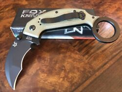 Fox Knives Karambit with Emerson Wave Black Blade N690Co OD Green G10 590OD