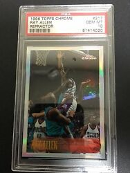 PSA 10 ~THE CARD ELITE COLLECTORS WANT~ CHROME REFRACTOR RAY ALLEN 1996 CENTERED