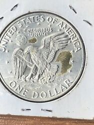 1974 S Silver Clad Eisenhower Dollar Uncirculated With Gold Tone