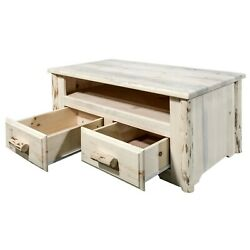 Log Coffee Table Rustic Small Tv Stand Amish Made Montana Lodge Furniture