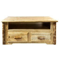 Rustic Log Tv Stand Coffee Table Amish Made Lodge Cabin Furniture
