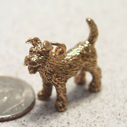 14k gold vintage TERRIER DOG charm