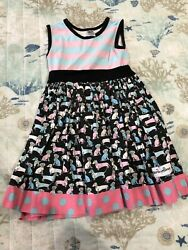 Chris N Missy Doggy Dress Girls Size 5 D1