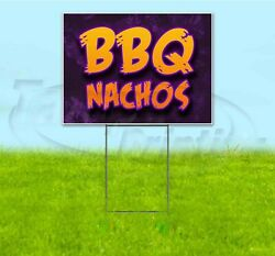Bbq Nachos 18x24 Yard Sign With Stake Corrugated Bandit Usa Business Barbecue