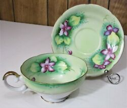 Vintage Lefton Tea Cup And Saucer Hand Painted Made In Japan