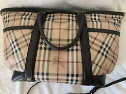 Burberry Diaper Bag Haymarket With Changing Pad Designer bag