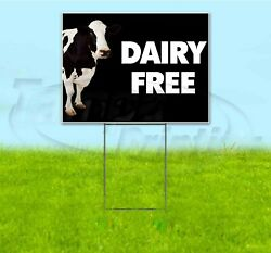 Dairy Free 18x24 Yard Sign With Stake Corrugated Bandit Usa Business Milk