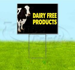 Dairy Free Products 18x24 Yard Sign With Stake Corrugated Bandit Usa Business