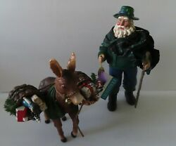 Dept 56 Clothtique Possible Dreams Trail To Tipperary Irish Santa And Donkey Mib