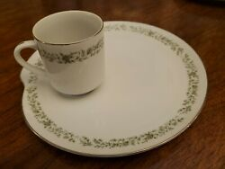 Service For Ten Mikasa Montclair Fine China Japan Snack Plates And Cups Perfect