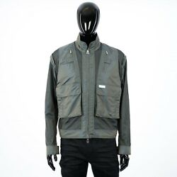 Dior Homme 3800 Technical Canvas Jacket With Metal Dior Plate