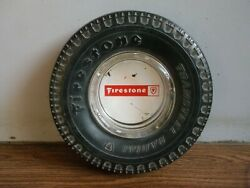Rare Vintage Firestone Tyres Advertising Ashtray Of 70and039s.