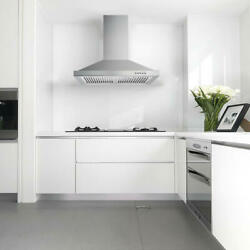 30 Inch Wall Mount Range Hood Kitchen 350cfm Chimney Style Over Stove Vent Touch