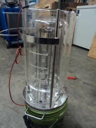 8l Jacketed Filter Reactor, Jacketed Chemical Reactor, Glass Reaction Vessel