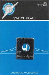Up Toggle Switch Plate For Peterbilt Utility Light Stainless Steel Etched 48475