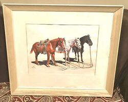 Antique Vintage Dc Muller American Indian 1888-1977 Watercolor Painting Old