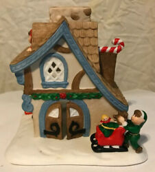 PartyLite Tealite  Candle Holder Santa's Workshop In Box P0269 Christmas House