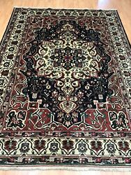 7and0392 X 9and0397 Antique Indian Oriental Rug - 1930s - Hand Made - 100 Wool