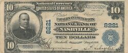 Il 1902 10 Nashville Ch 8221 Only 4 10 Pb Known And 6 Large Notes Reported