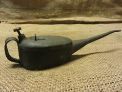 Vintage English Metal Oil Can Antique Oiler Old Farm 3505