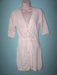 Tracy Reese Womens Ivory Half Sleeve Cardigan Knitted Dress Size M Nwt