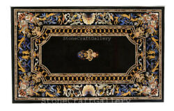 48 X 32 Marble Coffee Table Top Pietra Dura Handcrafted Inlay Home Decor