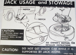 Ford Jack Usage And Stowage Caution Is Made Exactly Like Ford 77