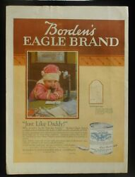 1919 Baby On Candlestick Telephone Bordenand039s Eagle Brand Condensed Milk Zodiac Ad