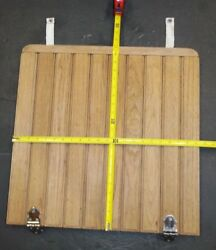 Boat Deck Hatch Wood 21-3/8 X 21 Door W 2 Latches Chrome Plated And Snap Straps