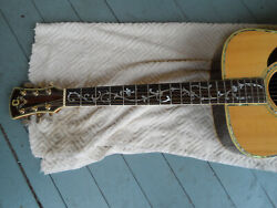 Vintage Conn Acoustic Guitar F-35 Rosewood One Of A Kind Tree Of Life Repair