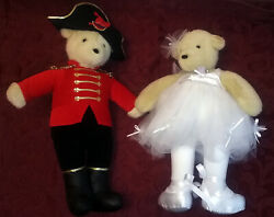 Two North American Teddy Bear Co.vintage Bears 12 Collectible, Costumed