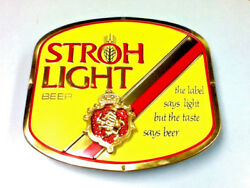 Stroh Light Beer Sign 3-d Wall Tacker Display Box Vintage 1979 Strohs Brewery H1