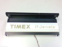 Timex 17 Jewels Vintage Lighted Store Sign Light Advertising Clocks Watches Bw3