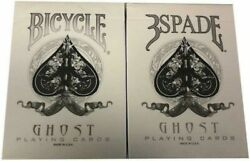Bicycle White Ghost 3 Spade Gaff Deck Playing Cards Magic Trick