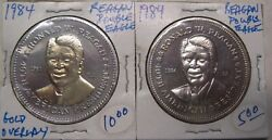 Lot Of 2 1984 President Ronald Reagan Double Eagle Medal Take A Look
