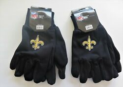 Two Pair Of New Orleans Saints Sport Utility Gloves From Forever Collectables