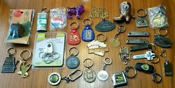 Junk Drawer Lot Keychains, Knives, Toothpick Holder And More 29 Items Total