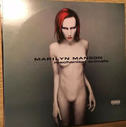 Marilyn Manson Mechanical Animals - Vgvg Metal Rare Blue And White Vinyl Record