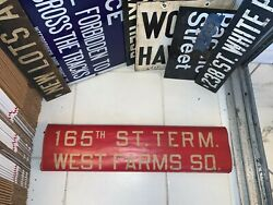 Queens 1952 Ny Nyc Bus Roll Sign 165 Street Terminal Lirr Jfk Airport West Farms